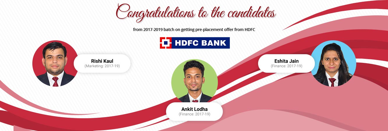 Students Recruited at HDFC Bank