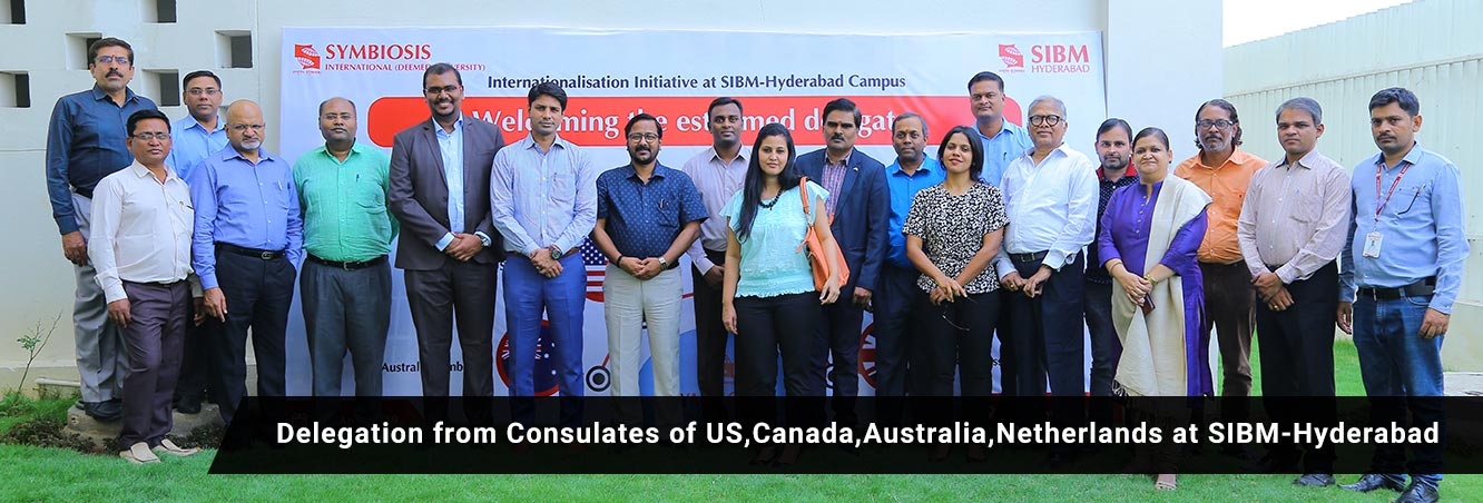 Delegation from Consulates of US, Canada, Australia, Netherlands at SIBM-Hyderabad