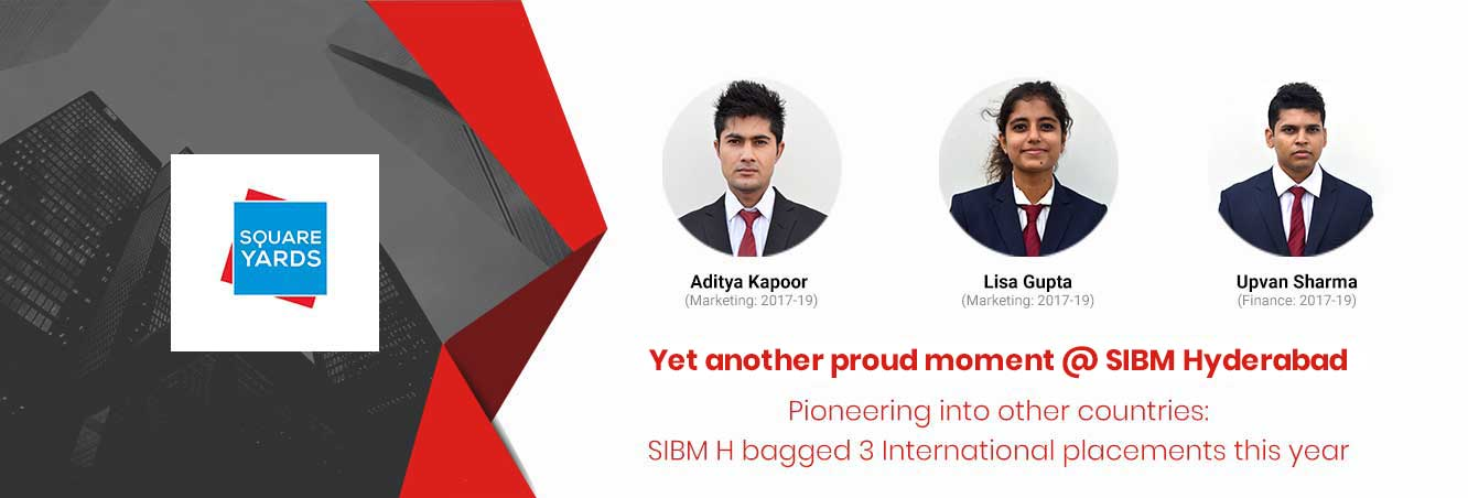 3 International Placements - SIBM Hyderabad