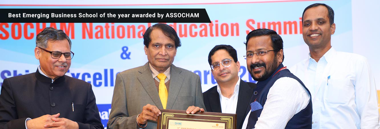 Best Emerging Business School of the Year Awarded by ASSOCHAM