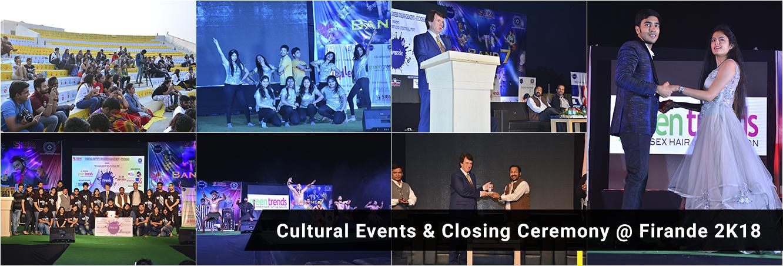 Cultural Events & Closing Ceremony at Firande 2K18