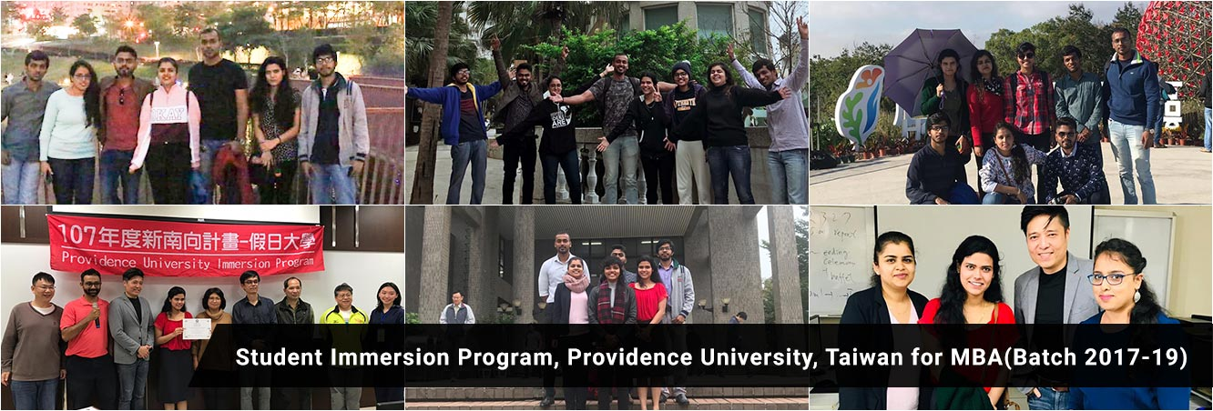 Student Immerson Program, Providence University, Taiwan for MBA (Batch 2017-19)