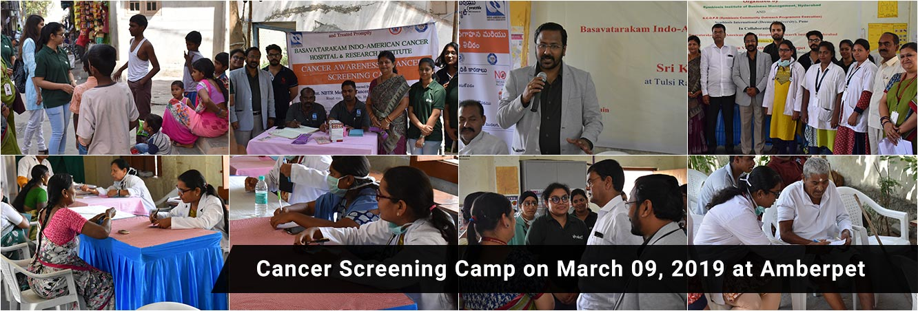 Cancer Screen Camp on March 09,2019 at Amberpet