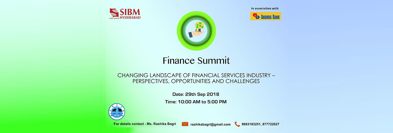 Fianance Summit - Changing Landscape Of Financial Services Industry