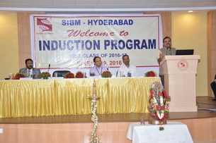 First day of Induction Program of SIBM - Hyderabad