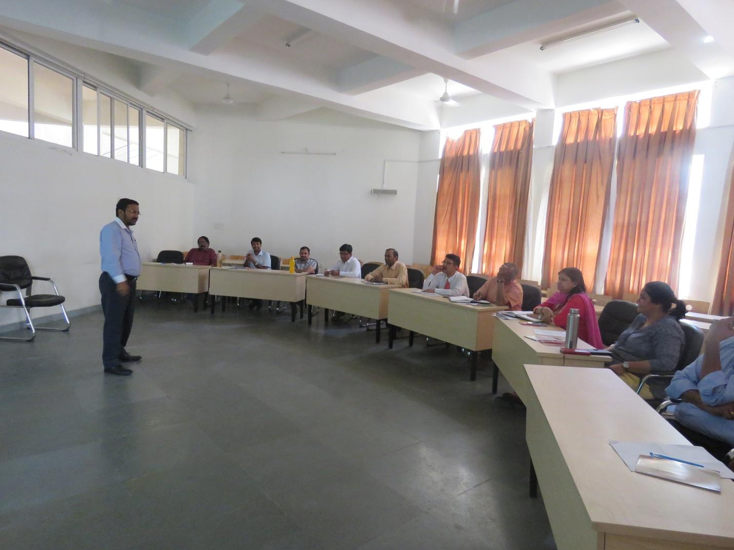 Dr. Ravi Kumar Jain, Director, Delivering The Introductory Session - FDP on Case Pedagogy