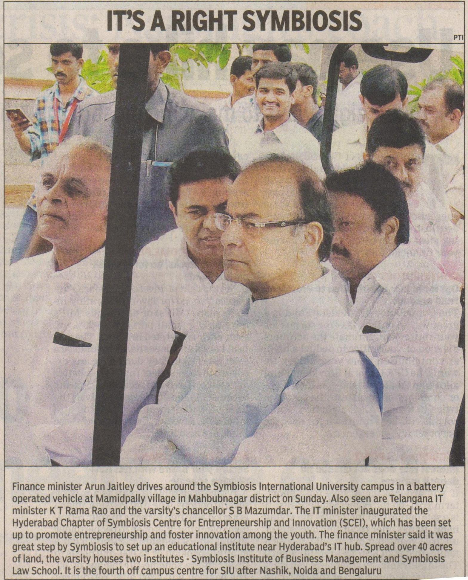 Shree Arun Jaitley at SIBM Hyderabad