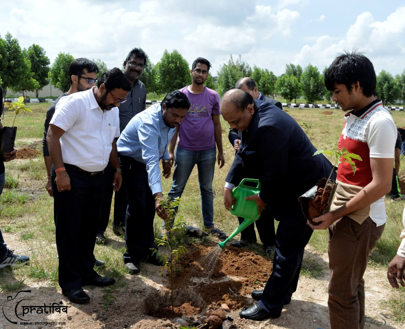 President and Vice President of FTAPCCI Planted Sapling of Trees in Campus