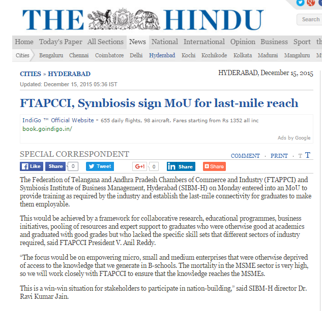 FTAPCCI, Symbiosis Sign MoU for Last Mile Reach