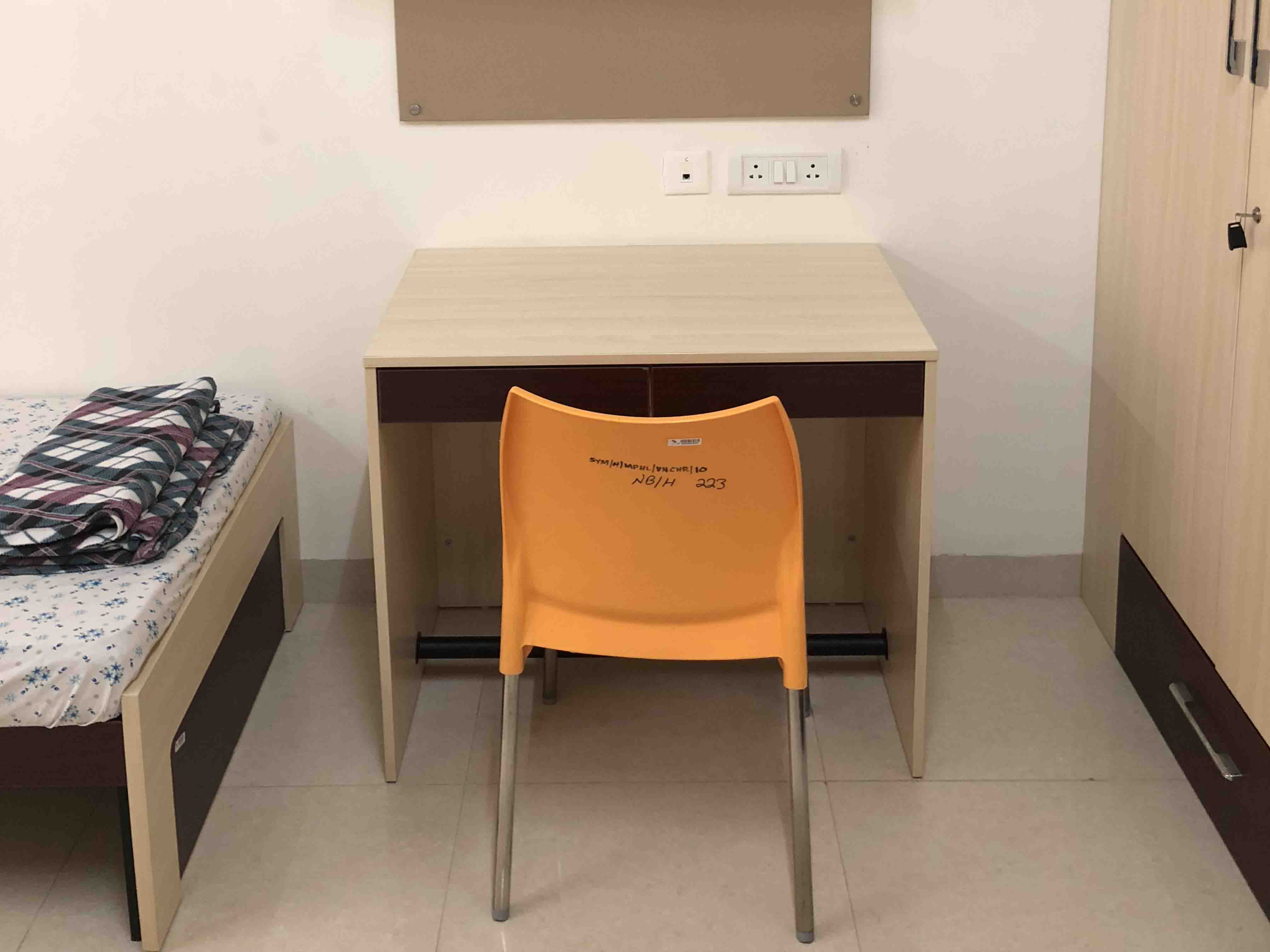 Study Table - Hostel Room Facilities - SIBM Hyderabad