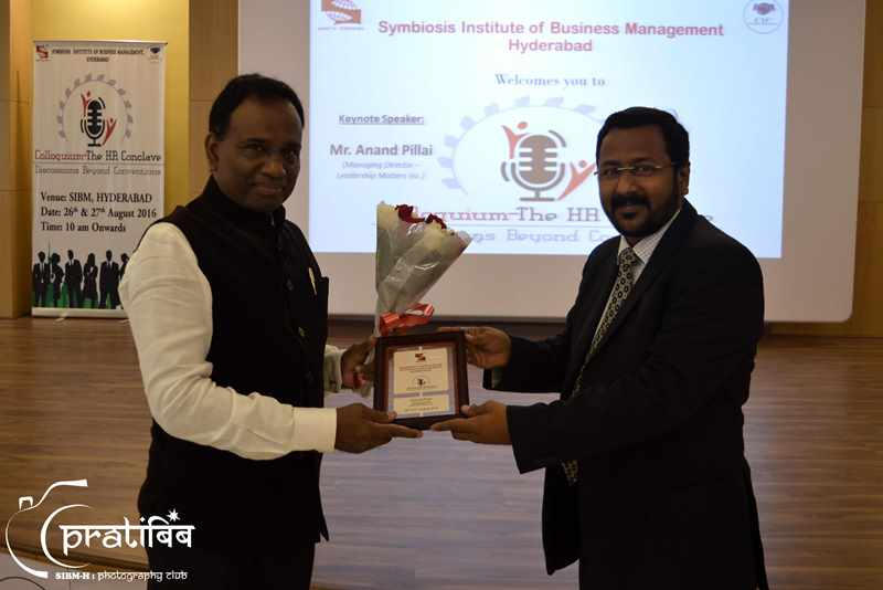 Mr. Anand Pallai MD Leadership Matters - SIBM Hyderabad