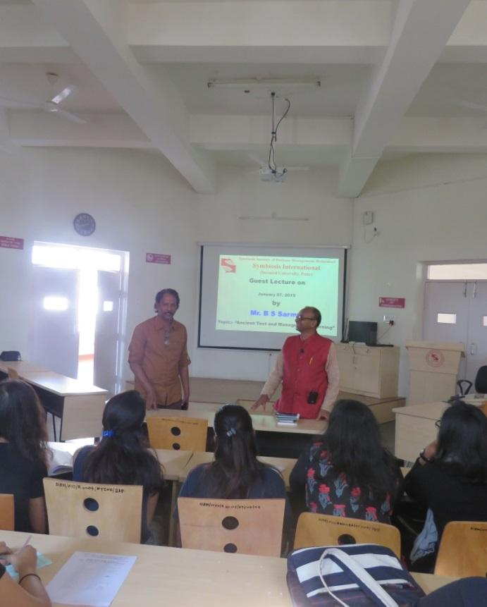 Ancient Text and Management Learning Guest Lecture by Mr. B S Sarma