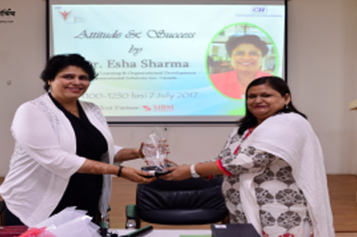 Guest Lecture on Attitude and Success By Dr. Esha Sharma