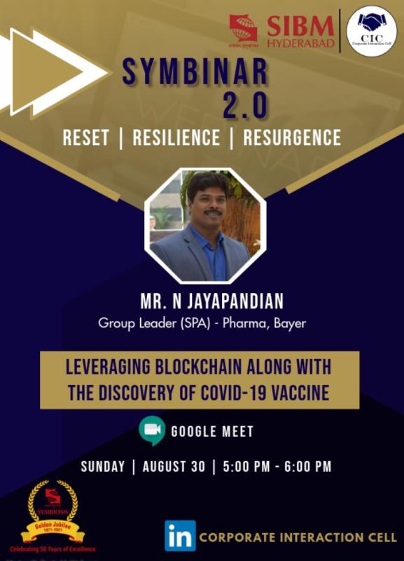 Symbinar 2.0 Series -  Mr. N Jayapandian