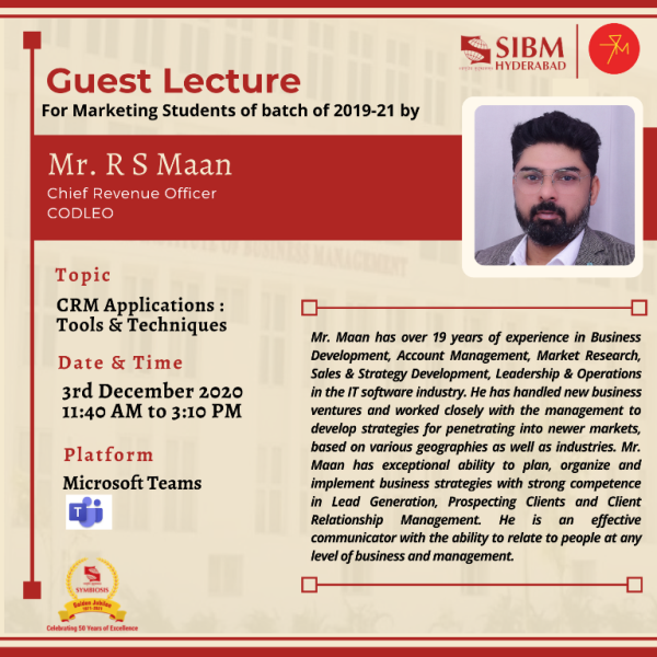 Guest Lecture Report Mr. R S Maan