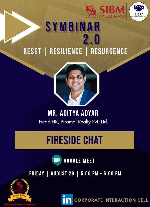 Symbinar 2.0 Series - Mr. Aditya Adyar