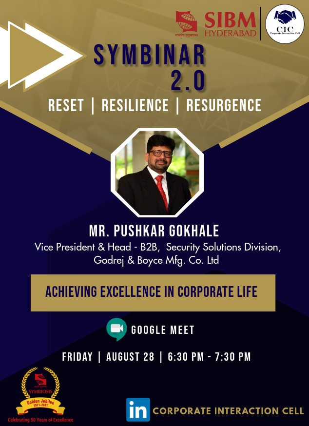Symbinar 2.0 Series - Mr. Pushkar Gokhale