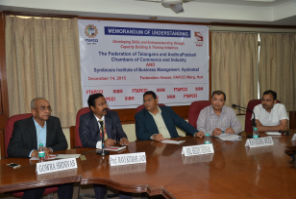SIBM-Hyderabad signed an MoU with FTAPPCI
