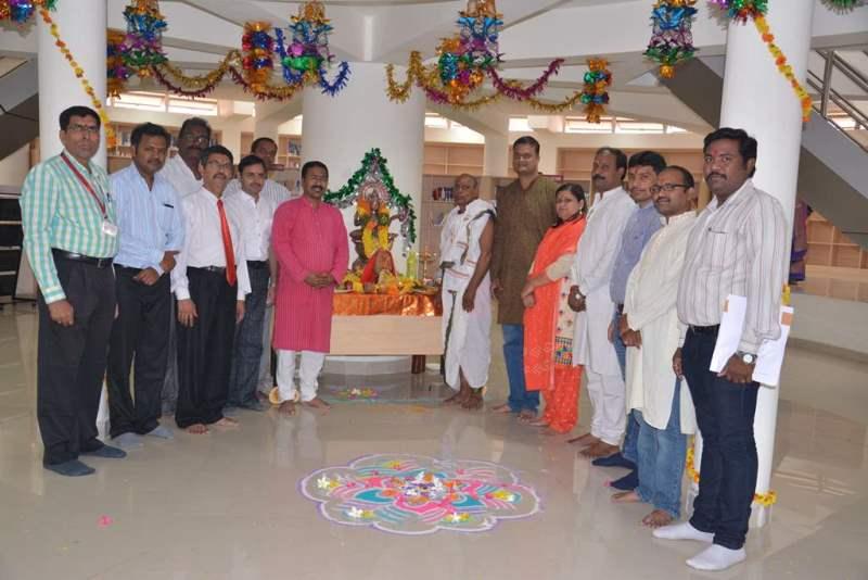 The first Saraswati puja of Symbiosis Hyderabad