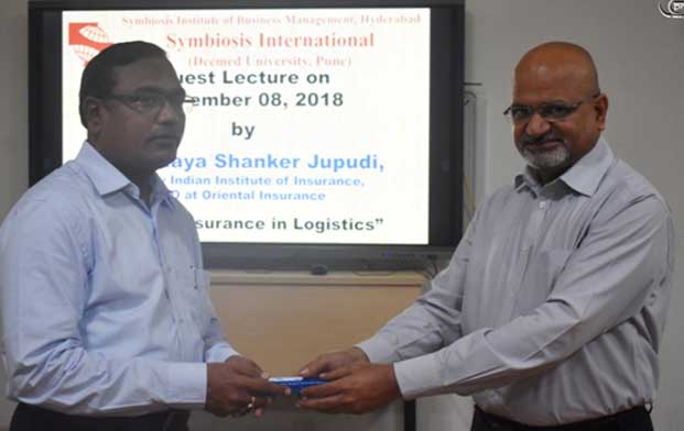 Guest Lecture by Mr. Udaya Shanker Jupudi from Oriental Insurance